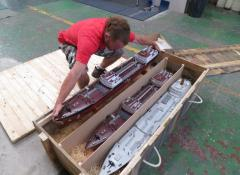 Tankers shipping crates, The Crown S2, Model making Cape Town