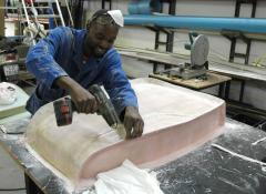 Norman assembling a mould, Special effects Fabrication Cape Town