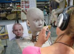 Sculpting the portraits, special effects Fabrication, Fabricated body doubles