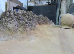 Model landscape for Eis commercial. Special Effects Model making Cape Town