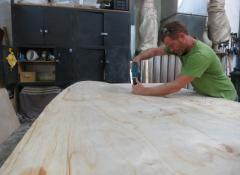Fabrication of a giant skateboard, Cape Town