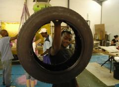 Light weight tyre replica for Nissan Juke commercial. SFX Fabrication South Africa