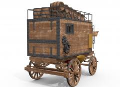 Fosters wagon rendering for visual reference, 3D Design