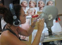 Portrait of child model for human body double, Sculpture and fabrication Cape Town