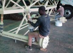 Steel structure for Arla Monster milk truck, Steel work fabrication Cape Town
