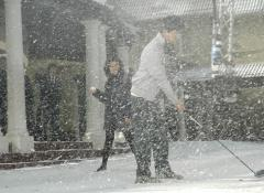 Falling snow, SFX snow for CIMB commercial Cape Town
