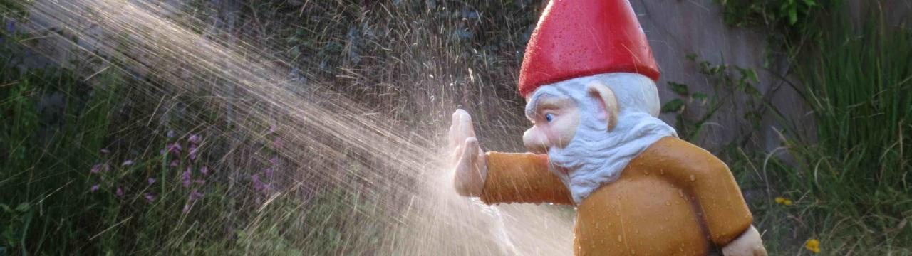 Fabricated IKEA gnome fights water, Fabrication and Special Effects, Cape